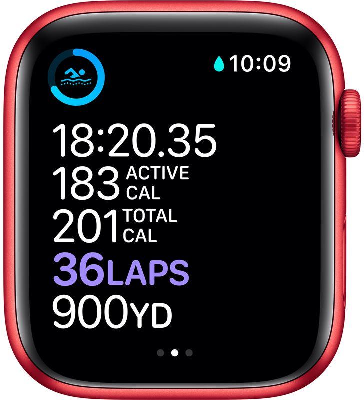 Apple watch s6 44mm gps cellular caja aluminio roja con correa roja sport b M09C3TY/A - 85936641_9722940948