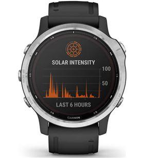 Reloj deportivo con gps Garmin fénix 6s solar plata/negro - pantalla 30.4mm 010-02409-00 - 010-02409-00