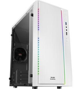 Caja semitorre Mars gaming MCMW blanca - usb 3.0 / usb 2.0 - hd audio+mic - - TAC-CAJA MCMW
