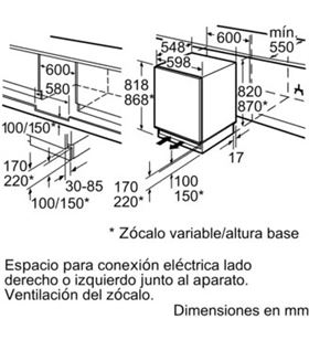 Congelador vertical integrable bajo encimera Siemens gu15dadf0 (820x600x600) SIEGU15DADF0 - SIEGU15DADF0