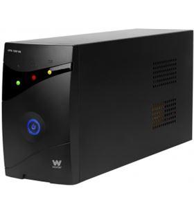 Sai línea interactiva Woxter ups 1200 va - 1200va/720w - 3*schuko - display PE26-081 - 8435089017731