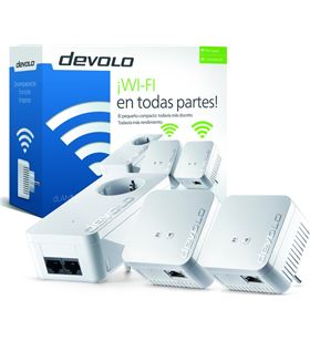 Plc/powerline Devolo dlan 550 wifi network - pack 3 unidades (550 duo+ / 2* 9644 - DEV-PLC 9644