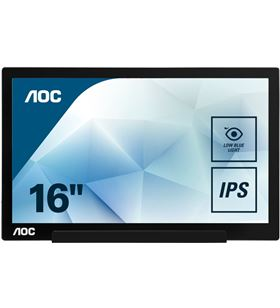 Aoc I1601FWUX monitor portátil - 15.6''/39.6cm - 1920*1080 - 160/160º - cubi - AOC-M I1601FWUX