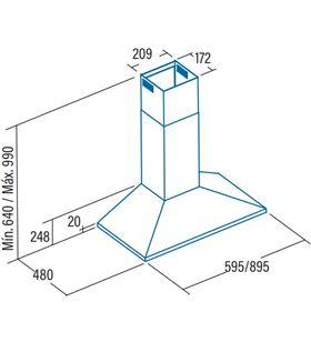 Cata v-6000 wh Campanas extractoras convencionales - V-6000 WH