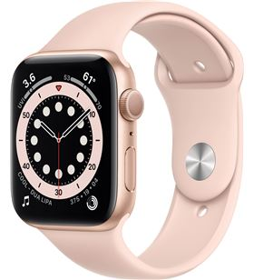 Apple watch s6 40mm gps caja aluminio oro con correa rosa arena sport band MG123TY/A - MG123TYA