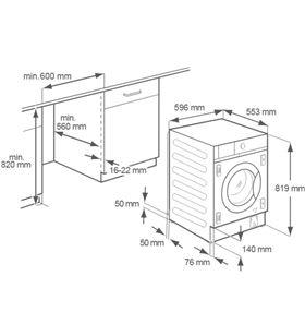 Lavadora integrable Electrolux EW7F4722NF 7 kg 1200 rpm - ELEEW7F4722NF