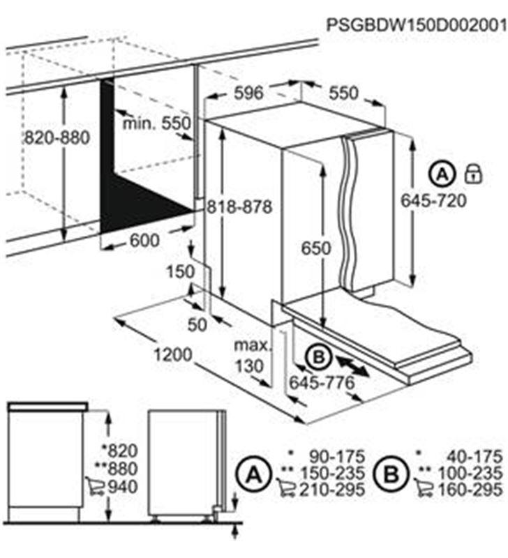 Zanussi lavavajillas integrable ( no incluye panel puerta ) a+++ electrolux zdln6531 (8p) 60cm zanzdln6531 - 86367951_3994845188