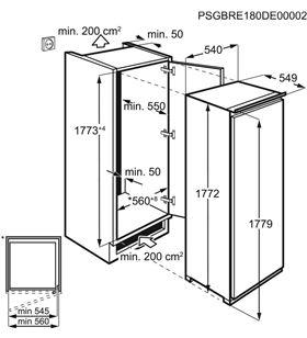 Aeg ABE818F6NS congelador vertical integrable nf a+ (1770x540x549) - AEGABE818F6NS