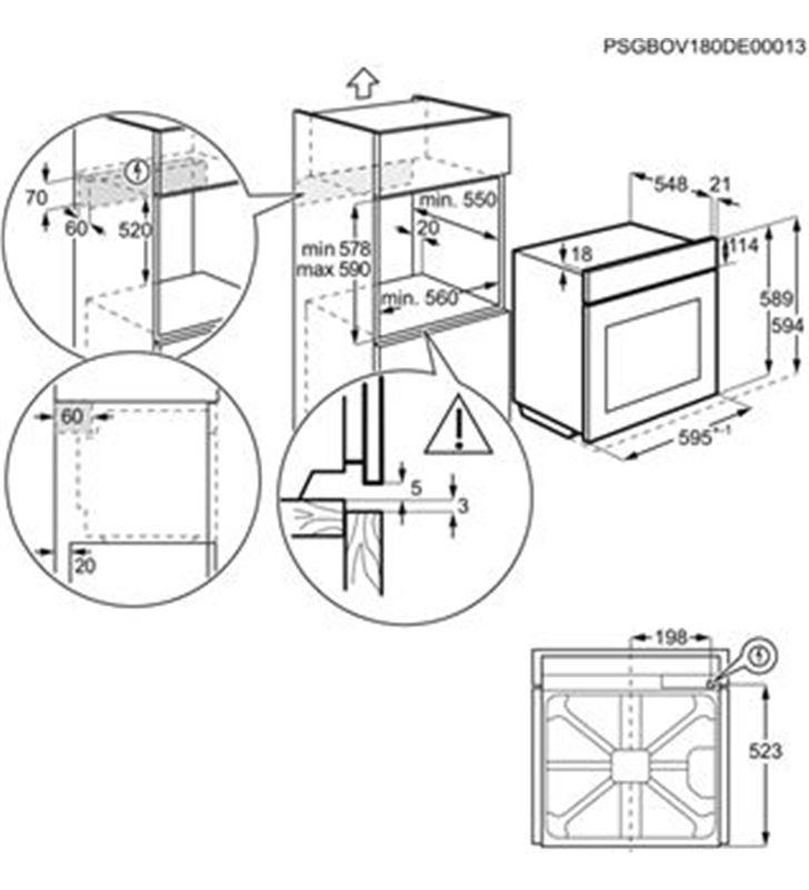 Electrolux EOE7P31X horno multif. pirol. negro Microondas - 76318066_3288466206