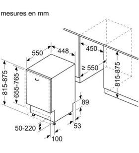 Lavavajillas integrable Siemens sr93ex28me clase a++ 10 servicios 4 program SIESR93EX28ME - SIESR93EX28ME