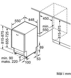 Lavavajillas integrable ( no incluye panel puerta ) Siemens sr65zx11me 10 servicios 4 programas 45cm SIESR65ZX11ME - SIESR65ZX11
