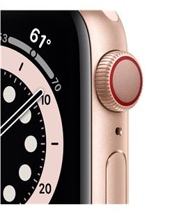 Apple watch s6 40mm gps cellular caja aluminio oro con correa rosa arena sp M06N3TY/A - M06N3TYA