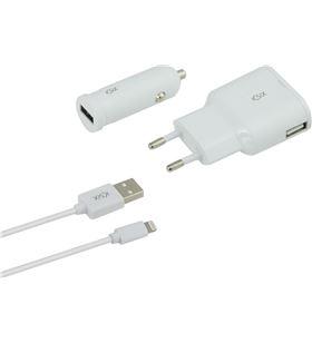 Sihogar.com pack cargador pared y mechero 2.4a + cable linghting b0925crdu - CONB0925CRDU
