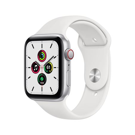 Apple watch se 44mm gps cellular caja aluminio con correa blanca sport band MYEV2TY/A - MYEV2TYA