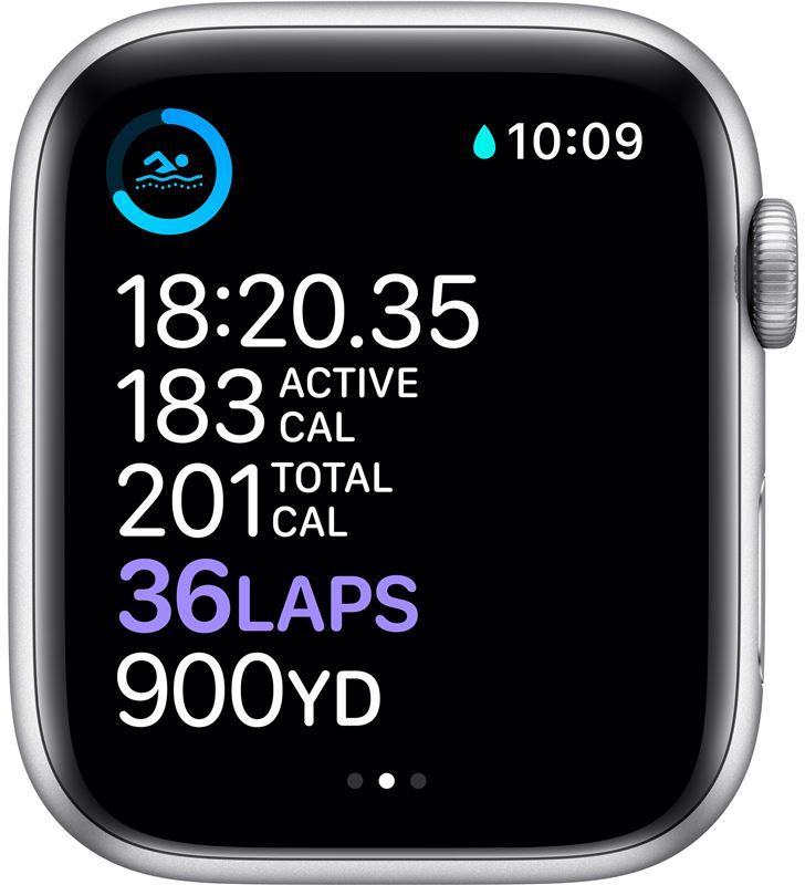 Apple watch s6 44mm gps cellular caja aluminio con correa blanca sport band MG2C3TY/A - 85936632_4110448450