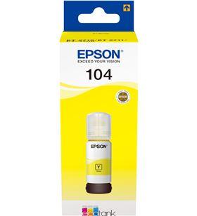 Botella de tinta amarillo Epson 104 ecotank - contenido 65 ml - compatibili C13T00P440 - EPS-C13T00P440