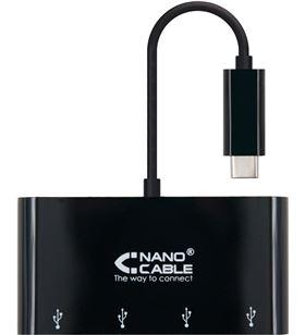 Sihogar.com adaptador usb tipo-c a 4*usb 3.0 nanocable 10.16.4401-bk - conectores usb t - NAN-ADP 10 16 4401-BK