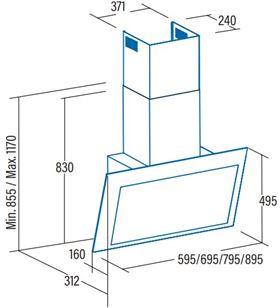 Cata thalassa700xgb Campanas extractoras convencionales - THALASSA700XGB