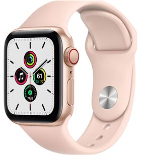 Apple MYEH2TY/A watch se 40mm gps cellular caja oro con correa rosa arena sport band - MYEH2TYA
