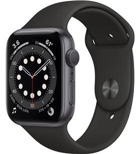 Apple watch s6 44mm gps caja aluminio gris espacial con correa negra sport M00H3TY/A - M00H3TYA