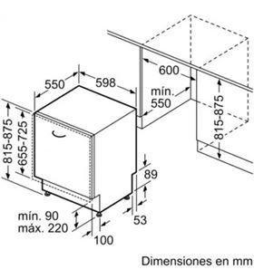 Lvj. integ. negro a++ Siemens sn61hx04ae 13s 60cm SIESN61HX04AE - SIESN61HX04AE