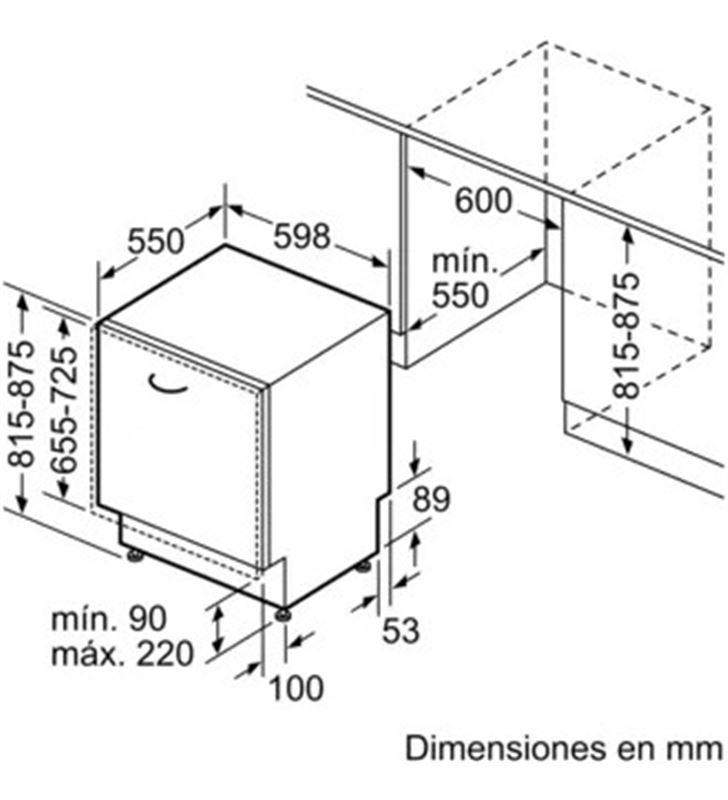 Lavavajillas integrable ( no incluye panel puerta ) negro a++ Siemens sn61hx04ae 13s 60cm SIESN61HX04AE - 86230920_5931729712