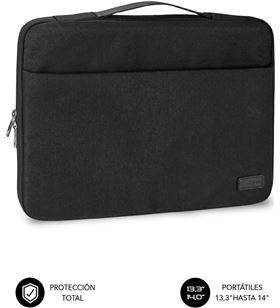 Sihogar.com maletín subblim elegant laptop sleeve para portátiles hasta 14''/ negro sub-ls-0ts0001 - SUB-MAL LS-0TS0001