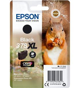 Cartucho de tinta original Epson nº378 xl alta capacidad/ negro C13T37914010 - EPS-C13T37914010