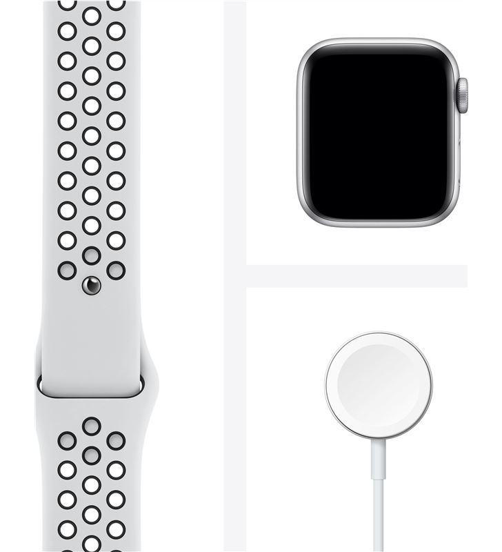 Apple M00T3TY/A watch s6 40mm gps nike caja aluminio con correa platino puro y negro - 85936651_4606966479