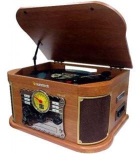Giradiscos de madera Sunstech PXRC52CDwd Tocadiscos - PXRC52CDWD