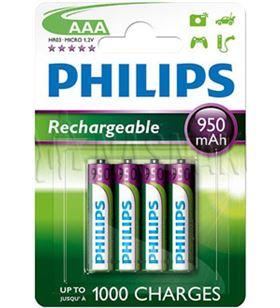 Pilas reccargable Philips 03-950ma R03B4A95/10 Cargadores - R03B4A95-10