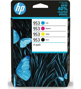 Cartucho de tinta original Hp nº953 multipack/ cian/ magenta/ amarillo/ neg 6ZC69AE - 6ZC69AE