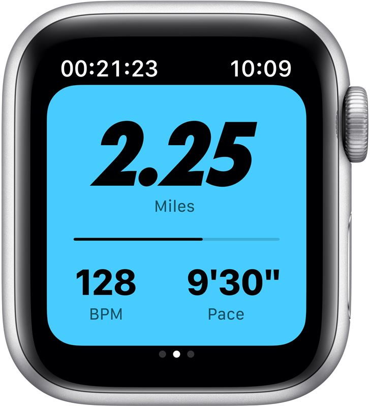 Apple M00T3TY/A watch s6 40mm gps nike caja aluminio con correa platino puro y negro - 85936651_5199774184