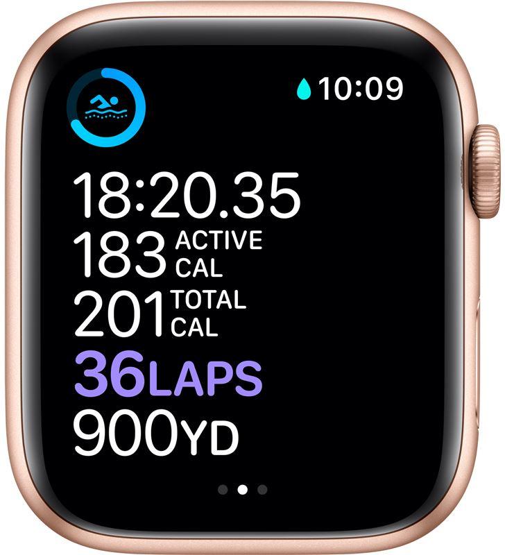 Apple watch s6 40mm gps caja aluminio oro con correa rosa arena sport band MG123TY/A - 85936658_9420886019