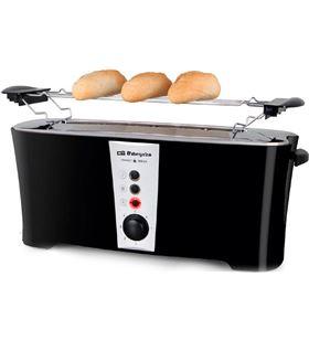 Orbegozo TO6050 negro tostador eléctrico ranura larga xl inox 900w con 7 ni - +015263