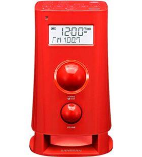 Sangean k-200 rojo radio despertador digital am fm pantalla lcd 2.5'' K-200 RED - +22169