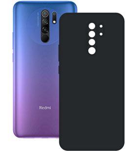 Funda silk Xiaomi redmi 9 negra ksix B9088SLK01 Terminales smartphones - CONB9088SLK01