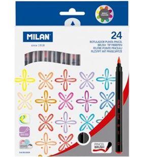 Milan caja 24 rotuladores milán 61264 - punta pincel - trazo 0.5-4 mmø - tinta ba 612624 - MIL-ROTU 612624