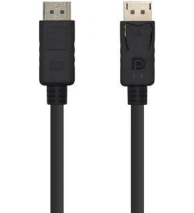 Cable displayport Aisens A149-0390/ dp macho - dp macho/ 2m/ negro - AIS-CAB A149-0390