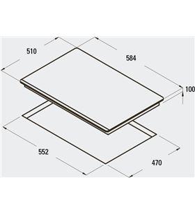 Encimera indep. Cata cristalgas rci 631 bk, 4 08028403 - 08028403