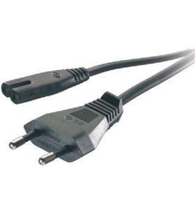 Cable corriente euro-tipo 8 Vivanco 46/80 1.25mts negro 46095 - 46095