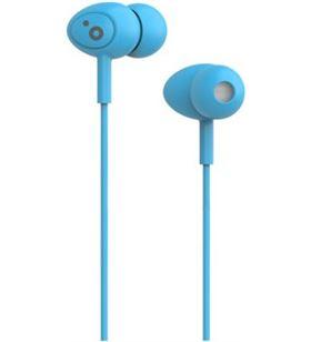 Auriculares boton Sunstech pops microfono azul POPSBL - POPSBL