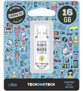 Tech TOT-NOESTUYO 16GB pendrive one noestuyo 16gb usb 2.0 tec4007-16 - TOT-NOESTUYO 16GB