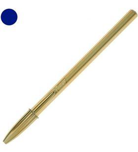 Boligrafo cristal oro tinta azul Bic punta 0.11mm con el cuerpo dorado 9213401 - BIC-CRISTAL ORO