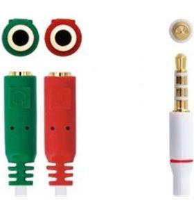 Adaptador audio Nanocable 10.24.1201 - jack 3.5 macho 4 pines a 2*jack 3.5 - NAN-ADP 10 24 1201