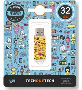 Pendrive Tech one Tech emojis 32gb - usb 2.0 TEC4501-32 - TOT-EMOJIS 32GB