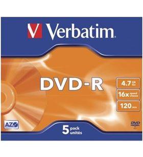 Verbatim dvd-r  advanced azo 16x 4.7gb 5 unidades 43519 - VERB-DVD-R 4.7GB 5U