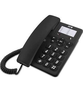 Teléfono de sobremesa Spc original negro - 3 niveles de volumen - opción mu 3602N - SPC-TELF 3602 N