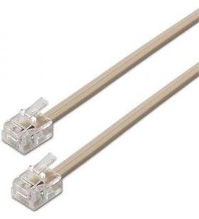 Cable de teléfono Aisens A143-0318 6p4c - conectores rj11 macho-macho - bei - AIS-CAB A143-0318