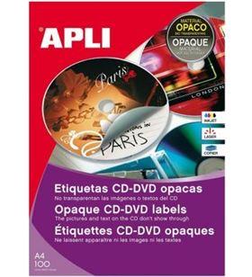 Sihogar.com 10166 caja de etiquetas cd-dvd mega con dorso opaco que evita que se vea la serig - 10166